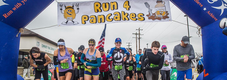 Pancakes Run Half Marathon, 10k, 5k, 1