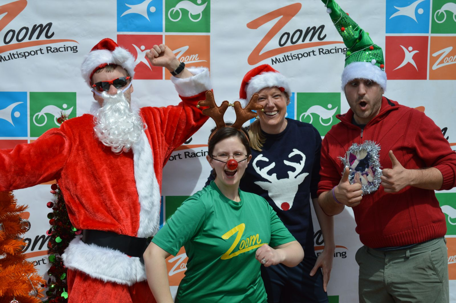 Runners Celebrating Christmas